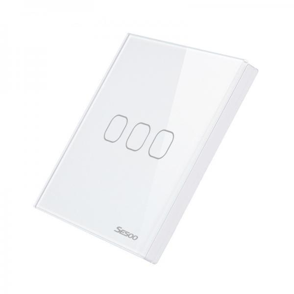 Telecomanda wireless RF tip panou, din sticla, buton tactil, Sesoo Seria 2 5