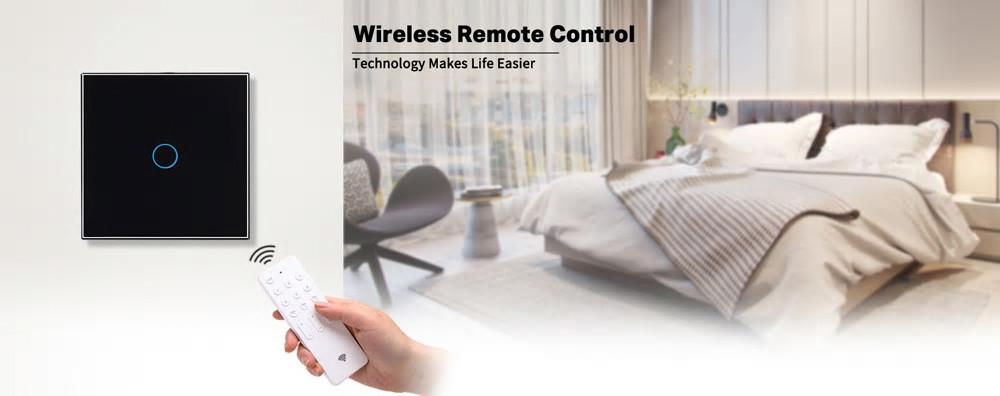 Intrerupator touch cu panou tactil din sticla, Wireless RF, Smart Home 25