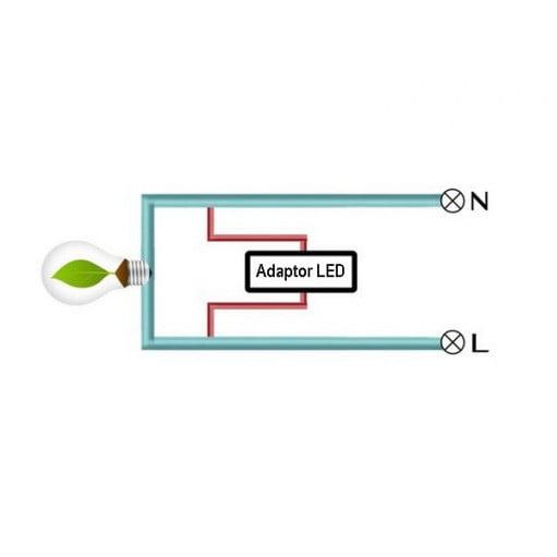 Adaptor/condensator anti-licarire becuri LED, pentru intrerupatoarele cu touch 2