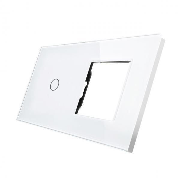 Rama sticla pentru intrerupator cu touch simplu + modul priza simplu, Smart Home 22