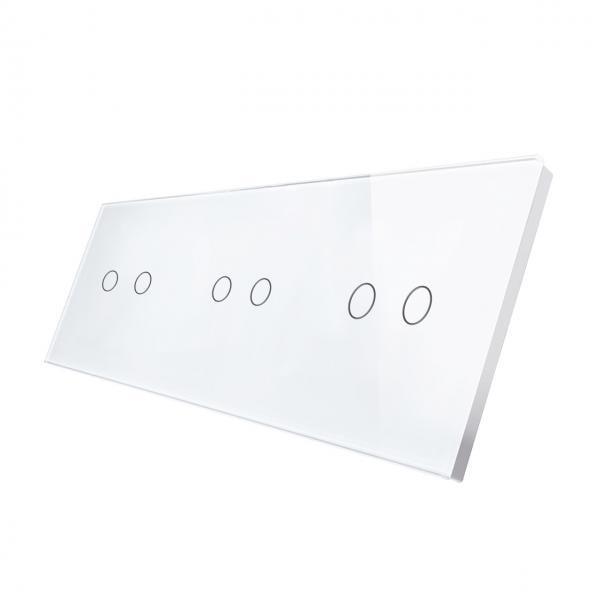 Panou intrerupator touch dublu + dublu + dublu din sticla Smart Home 19