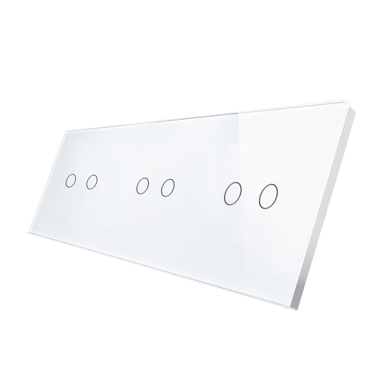 Panou intrerupator touch dublu + dublu + dublu din sticla Smart Home