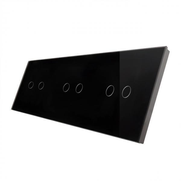 Panou intrerupator touch dublu + dublu + dublu , din sticla, Smart Home 19