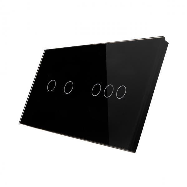 Panou intrerupator touch triplu + dublu din sticla Smart Home 3