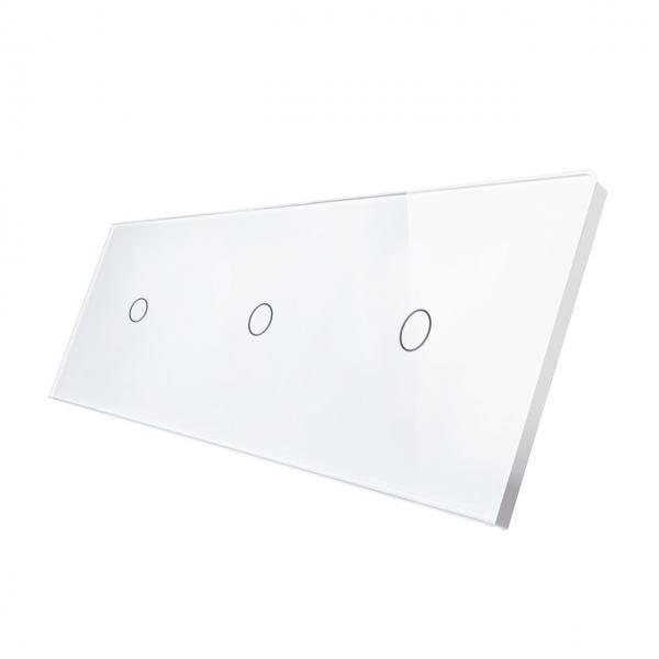 Panou intrerupator touch simplu + simplu + simplu, din sticla, Smart Home 18