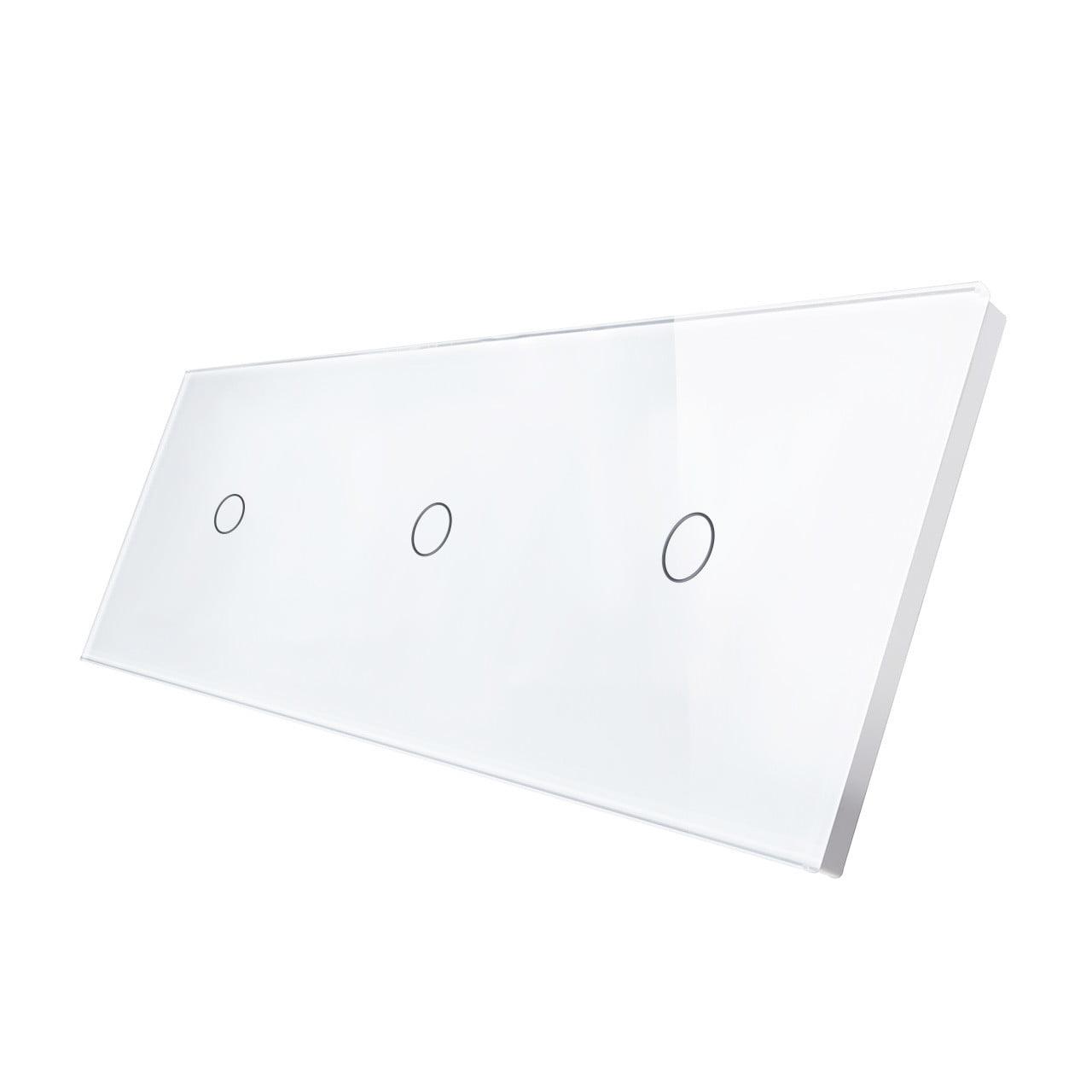 Panou intrerupator touch simplu + simplu + simplu, din sticla, Smart Home