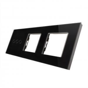 Rama sticla pentru intrerupator cu touch triplu + modul priza dublu, Smart Home 19