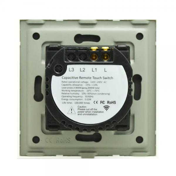 Intrerupator touch cu panou tactil din sticla Wireless RF Smart Home 8
