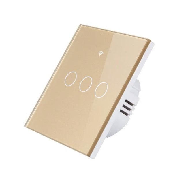 Intrerupator inteligent triplu cu touch, WiFi si panou tactil din sticla Seria 3 1