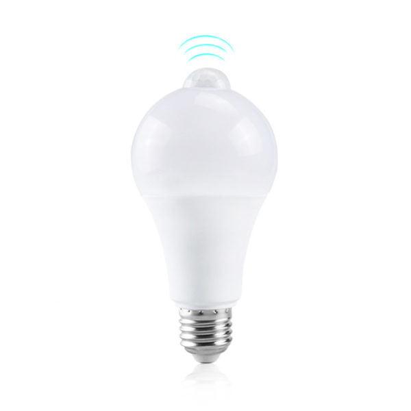 Bec LED cu senzor de miscare si detectie zi/noapte, 9W lumina rece 8