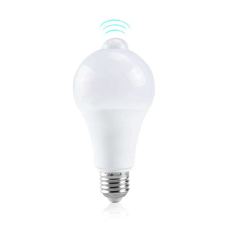 Bec LED cu senzor de miscare si detectie zi/noapte, 9W lumina rece