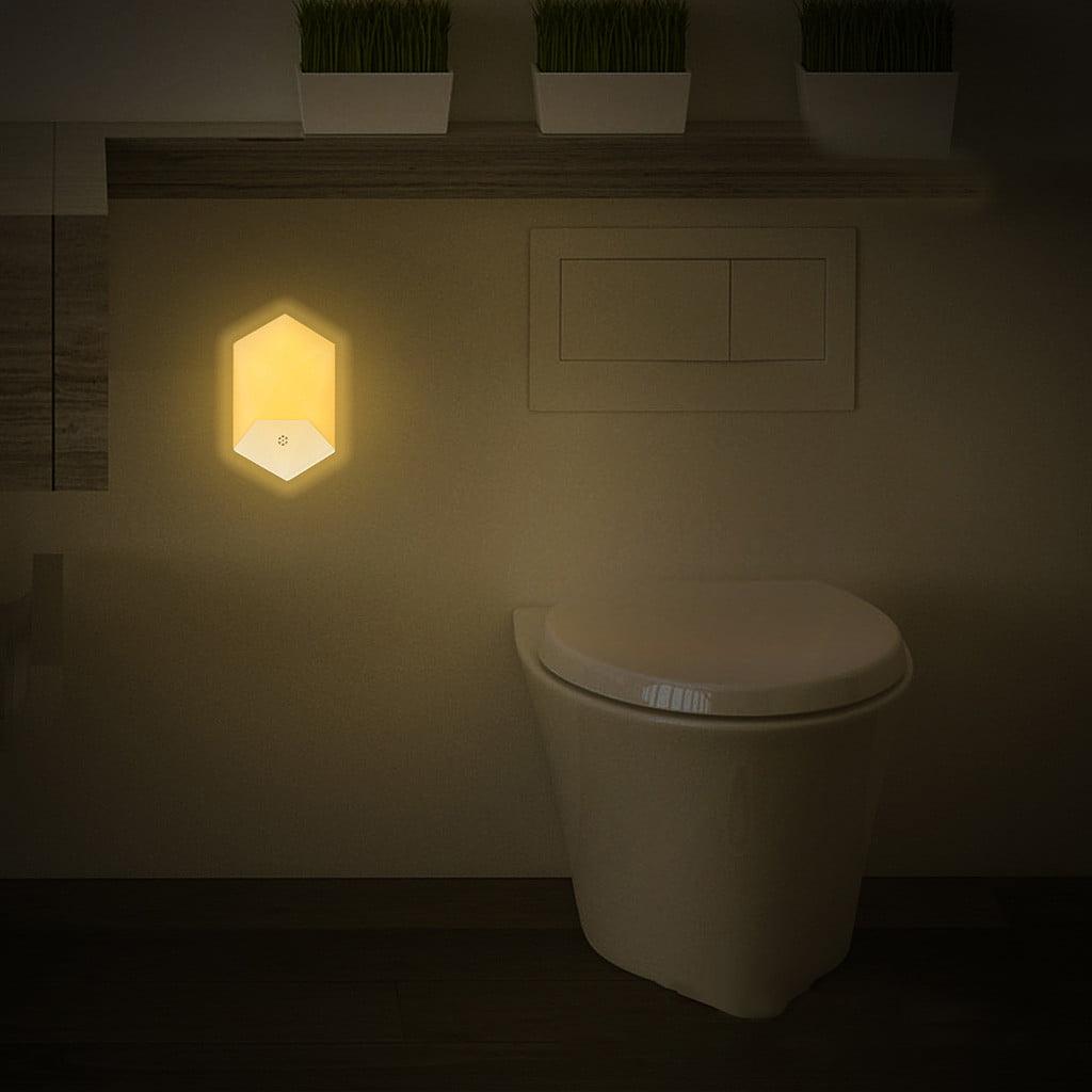 Lampa de veghe LED cu senzor de lumina, montare la priza, lumina calda 7