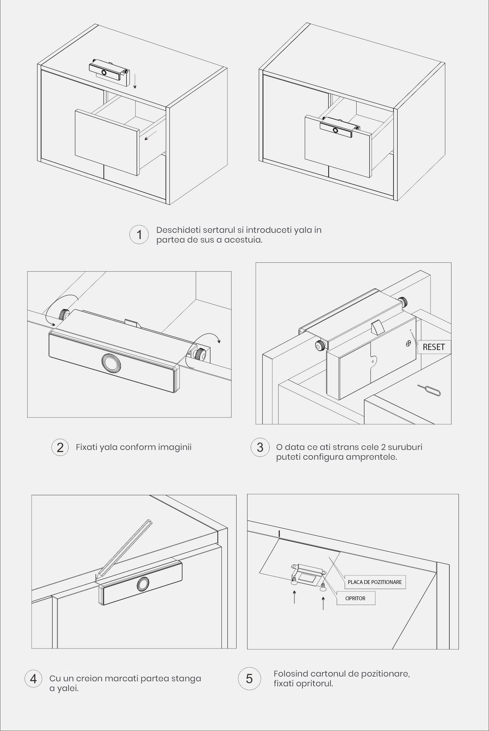 Yala cu amprenta pentru sertar/dulap 13