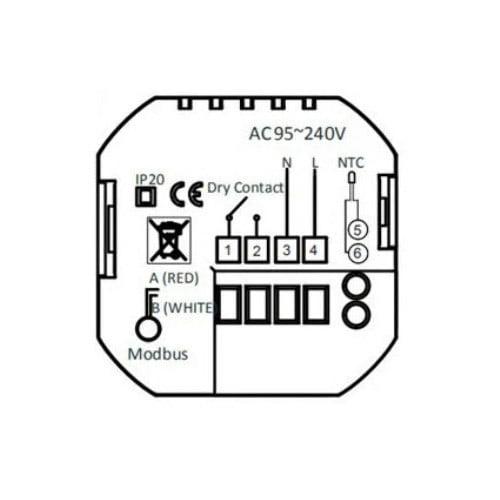 Termostat Inteligent MoesHouse BHT-3000GCLW cu WIFI si display tactil pentru centrala pe gaz 2