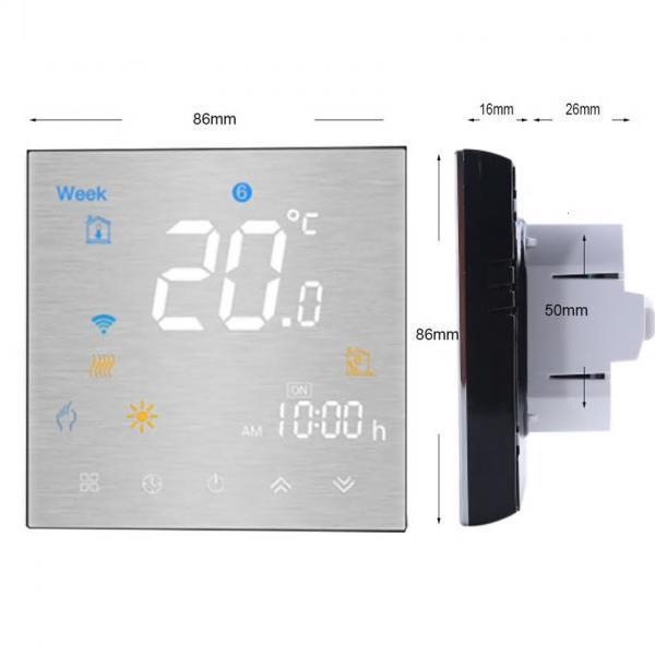 Termostat Inteligent MoesHouse BHT-3000GCLW cu WIFI si display tactil pentru centrala pe gaz 1