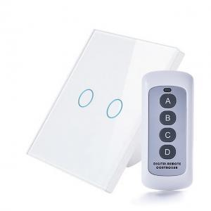Intrerupator RF dublu cu touch, panou de sticla si telecomanda 7