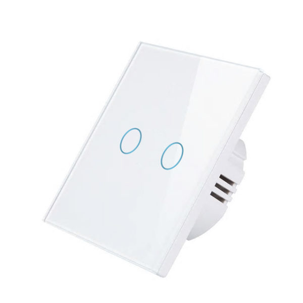 Intrerupator Wireless RF cu touch, panou tactil de sticla, Smart Lighting Switch 3