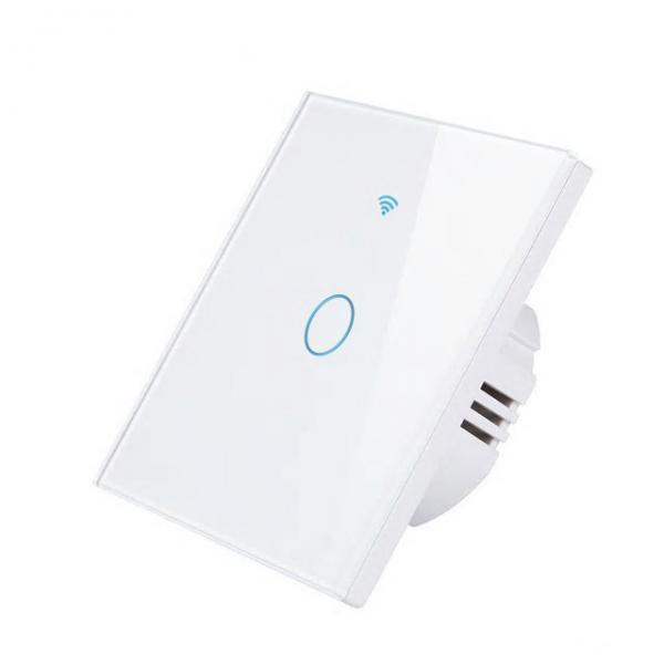 Intrerupator inteligent cu touch, WiFi + RF si panou tactil din sticla, Smart Lighting Switch 1