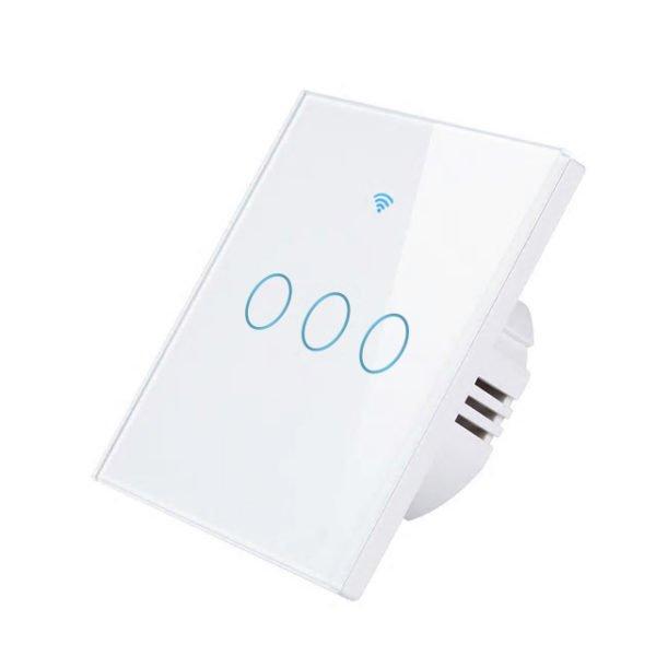 Intrerupator inteligent cu touch, WiFi + RF si panou tactil din sticla, Smart Lighting Switch 5