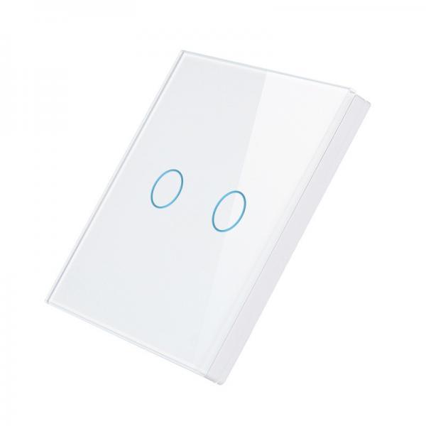 Telecomanda wireless RF tip panou, buton tactil, din sticla, Smart Lighning Switch 3