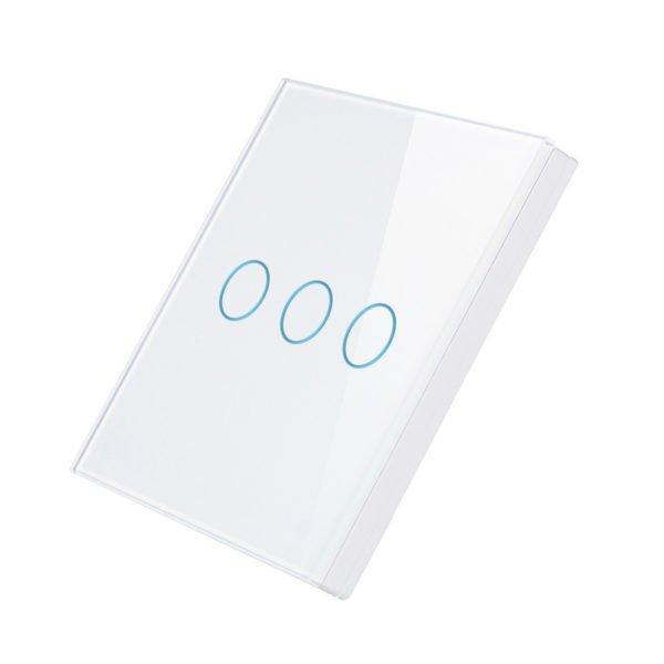 Telecomanda wireless RF tip panou, buton tactil, din sticla, Smart Lighning Switch 5