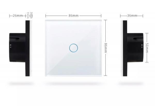 Intrerupator RF triplu cu touch, panou de sticla si telecomanda 4