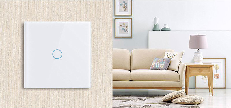 Intrerupator Wireless RF cu touch, panou tactil de sticla, Smart Lighting Switch 24