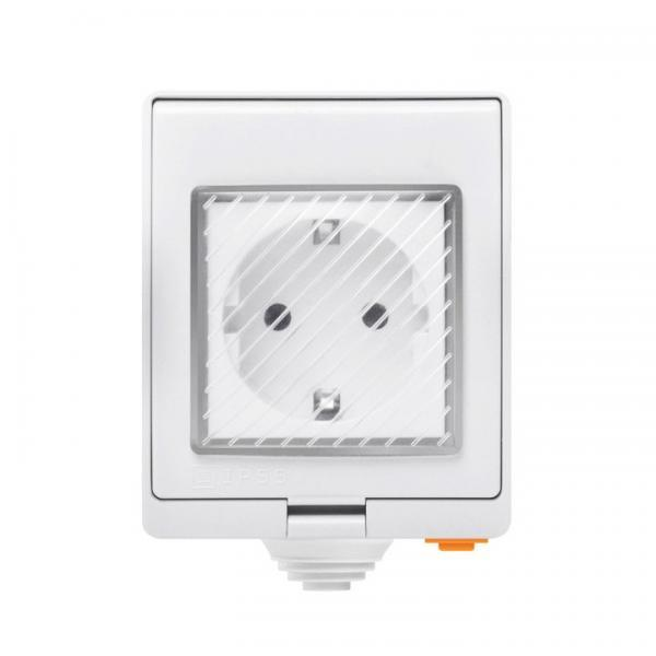 Priza inteligenta pentru exterior, IP55, Wi-Fi, Sonoff S55TPF 26