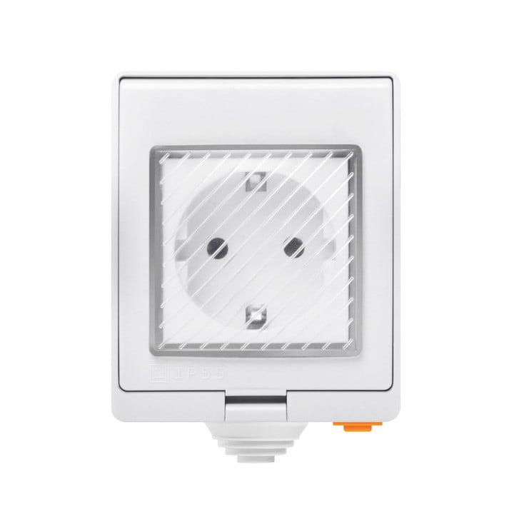 Priza inteligenta pentru exterior, IP55, Wi-Fi, Sonoff S55TPF