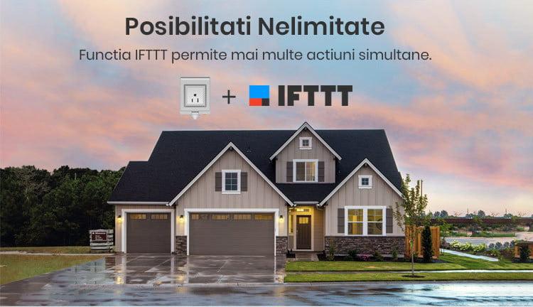 Priza inteligenta pentru exterior, IP55, Wi-Fi, Sonoff S55TPF 8