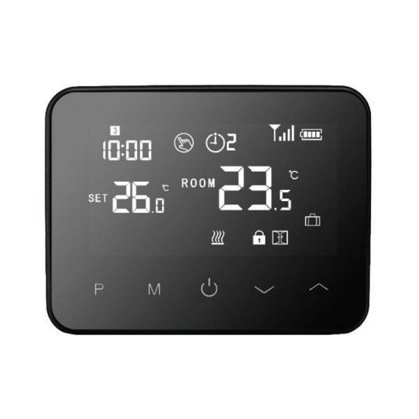 Termostat Inteligent Portabil, cu Wi-Fi + RF, ecran tactil, pentru centrale pe gaz, compatibil Amazon Alexa si Google Home 9