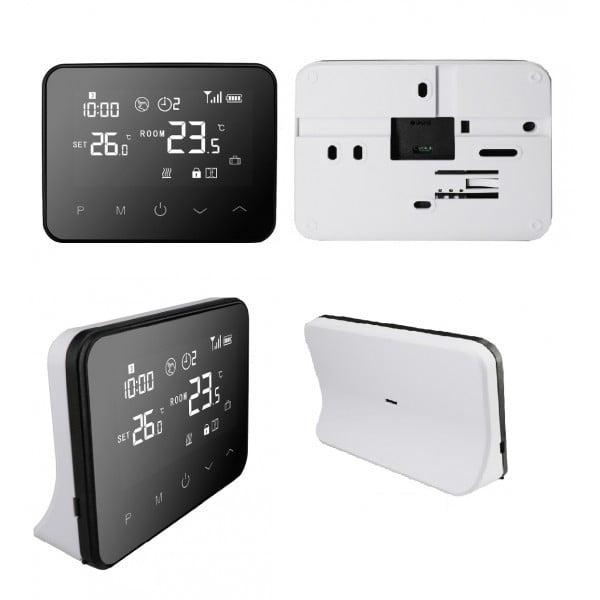 Termostat Inteligent Portabil, cu Wi-Fi + RF, ecran tactil, pentru centrale pe gaz, compatibil Amazon Alexa si Google Home 3