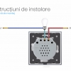 Intrerupator touch wireless RF cu panou tactil din sticla + telecomanda inclusa, Livolo 39