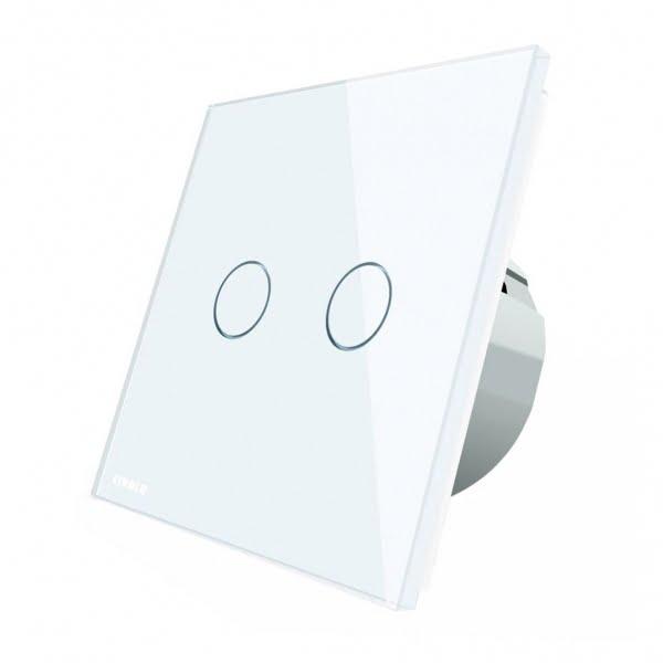Intrerupator touch wireless cu protocol Zigbee, panou tactil din sticla, Livolo 1
