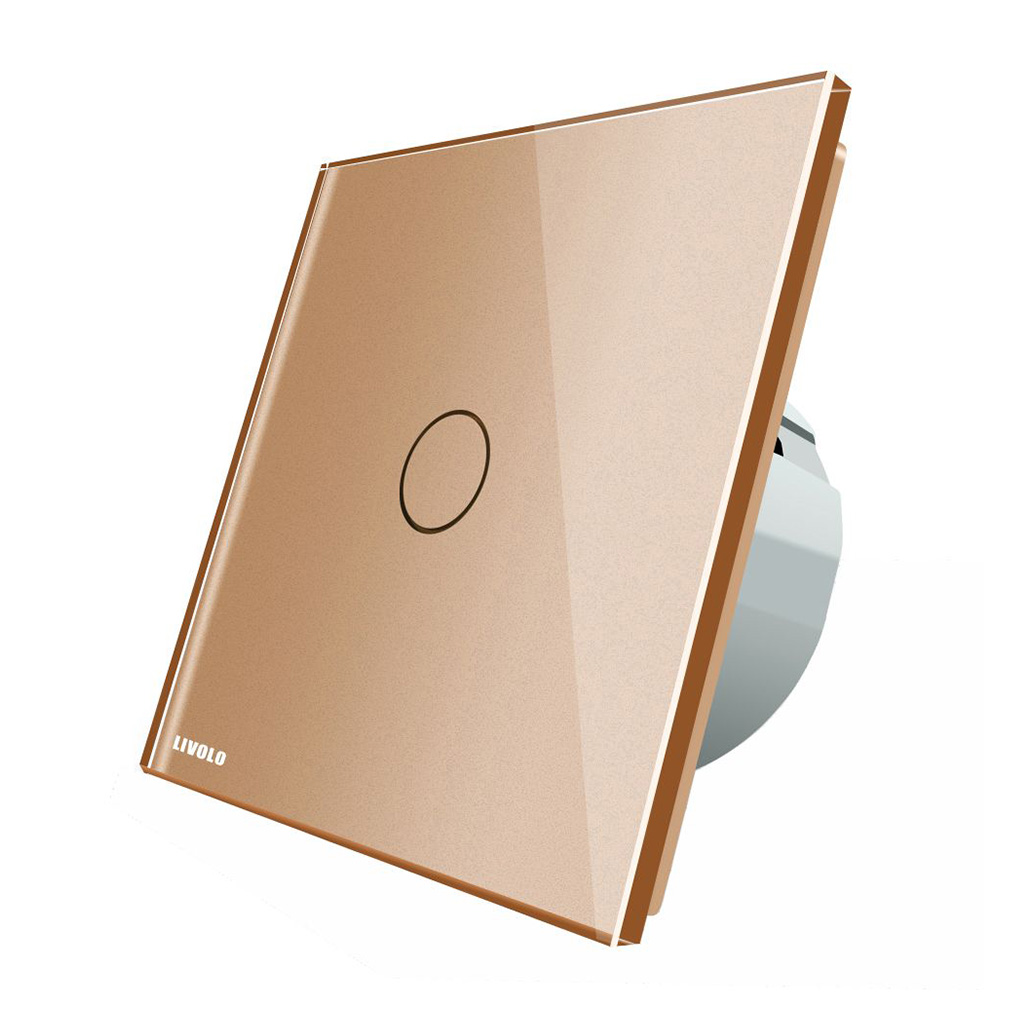 Intrerupator touch wireless RF cu panou tactil din sticla, Livolo