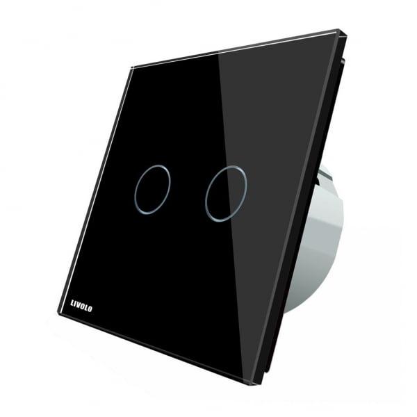 Intrerupator touch wireless cu protocol Zigbee, panou tactil din sticla, Livolo 3