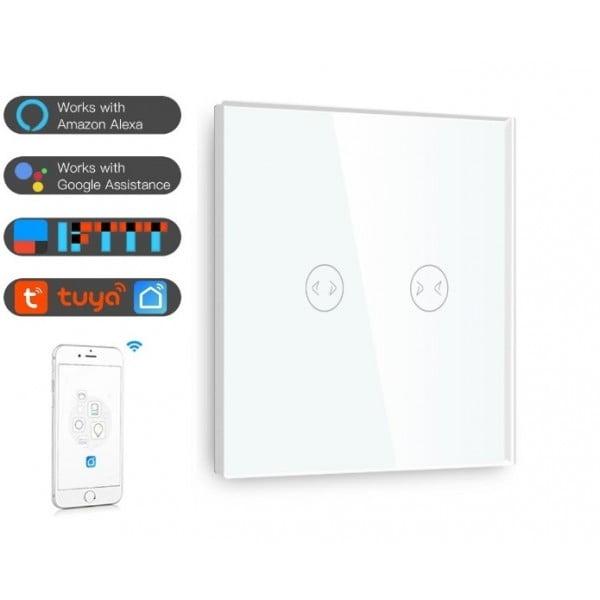 Intrerupător touch inteligent pentru Cortina, Wi-Fi, compatibil Google Home si Amazon Alexa 2