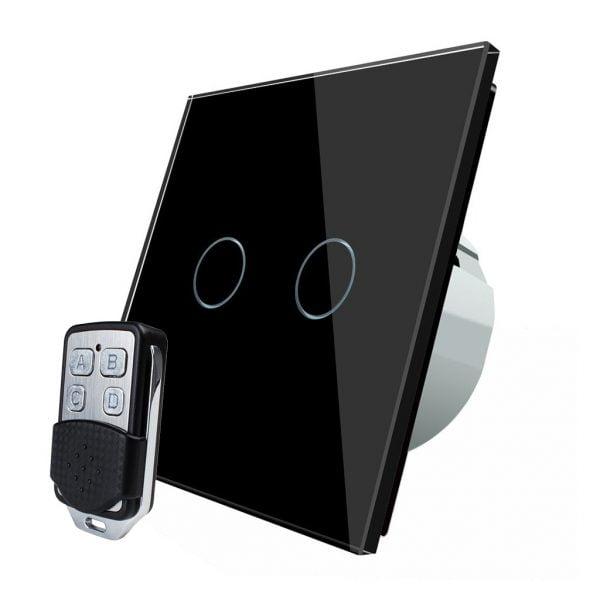 Intrerupator touch wireless RF cu panou tactil din sticla + telecomanda inclusa, Livolo 7