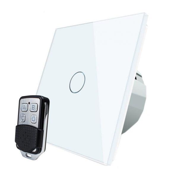 Intrerupator touch wireless RF cu panou tactil din sticla + telecomanda inclusa, Livolo 10