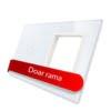 Rama sticla pentru intrerupator cu touch simplu + modul priza simplu, Livolo 10