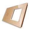 Rama sticla pentru intrerupator cu touch simplu + modul priza simplu, Livolo 13