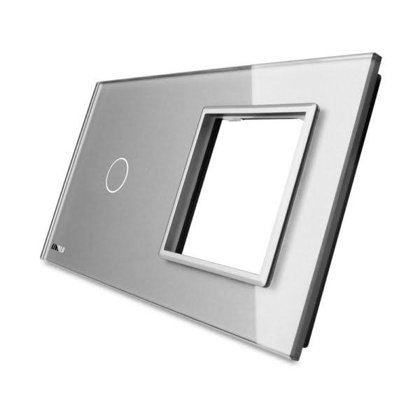 Rama sticla pentru intrerupator cu touch simplu + modul priza simplu, Livolo 4