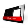 Rama sticla pentru intrerupator cu touch simplu + modul priza simplu, Livolo 15