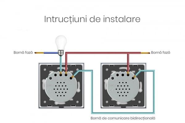 Modul intrerupator cu touch cap scara / cap cruce, Livolo 4