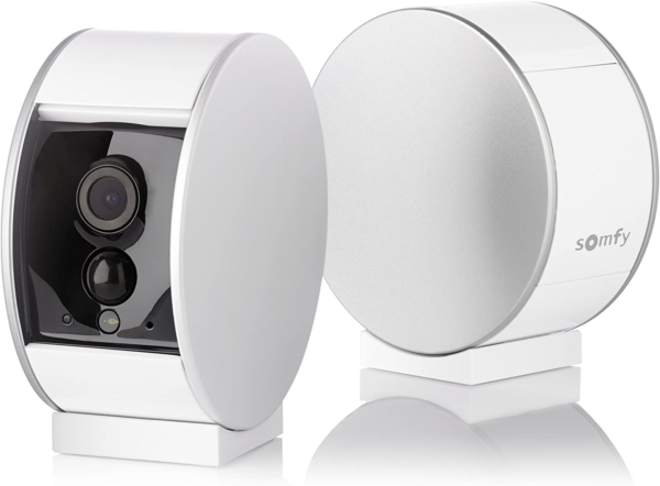 Camera Video HD de interior Somfy Protect, Vedere pe timp de noapte, Zoom de 8x, Compatibil cu TaHoma, Amazon Alexa, IFTTT si Works With Nest 2