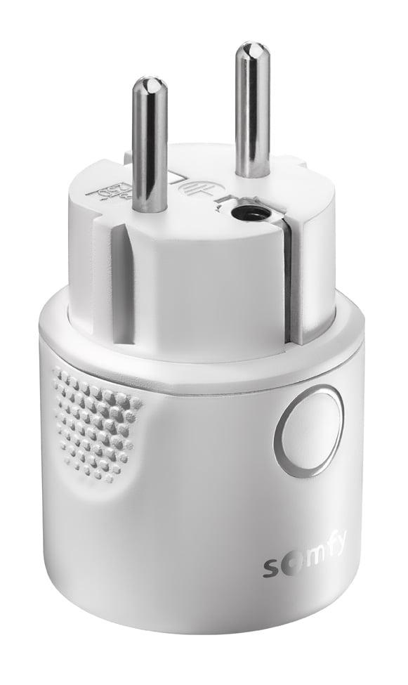 Priza inteligenta Somfy IO 230V, Plug & Play, Tip F, Compatibil cu TaHoma, Connexoon io, a Telecomenzilor si Videointerfoanelor io-homecontrol 2