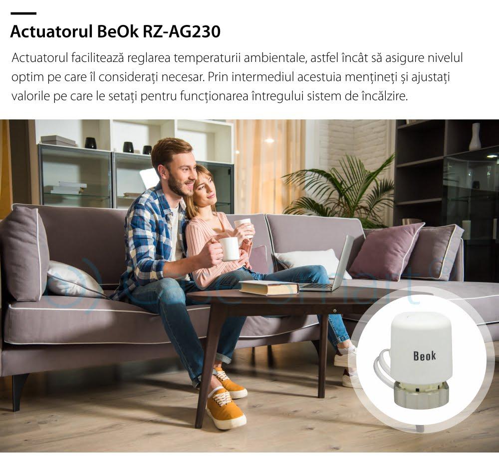Actuator termic normal inchis BeOk RZ-AG230-NC 8