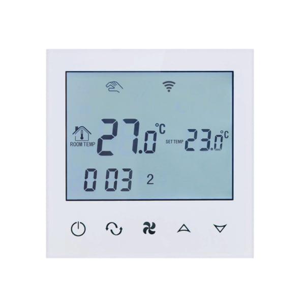 Termostat cu fir pentru aer conditionat BeOk TDS21WIFI-AC2, Control de pe telefonul mobil, Compatibil cu sisteme HVAC 2
