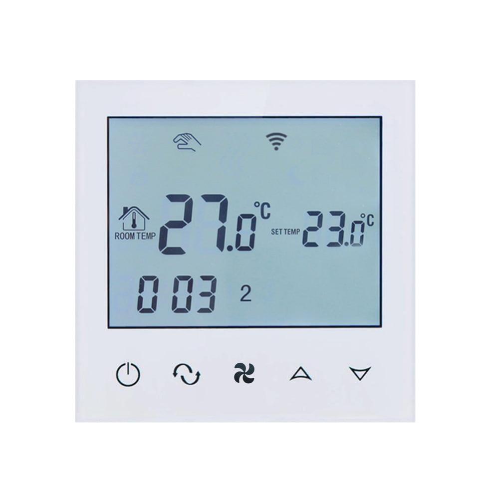 Termostat cu fir pentru aer conditionat BeOk TDS21WIFI-AC2, Control de pe telefonul mobil, Compatibil cu sisteme HVAC