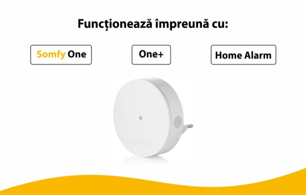 Extensie radio Somfy Protect, Compatibil cu Somfy One, One+, Somfy Home Alarm 4